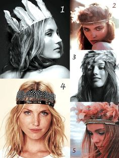 Feather Crowns and Headdresses | Bride Ideas