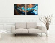 Peinture abstraite Acrylique Vagues de fluide  par ArtThouAlexis