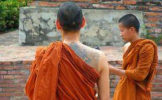 Thai Monks and Tattoo