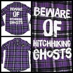 My Disney Life: Making My Own Magic- hitchhiking ghosts flannel shirt by Cakeworthy and Disneybound