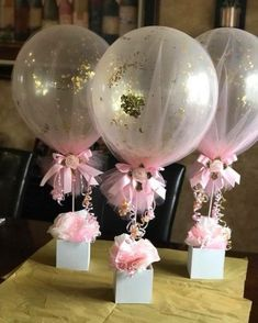 18 New Ideas for baby shower decoracion mesa balloon centerpieces - Baby/Kind - Baby Baby Shower Table Centerpieces, Girl Baby Shower Decorations, Baby Shower Themes, Birthday Decorations, Shower Ideas, Elephant Baby Shower Centerpieces, Tutu Table, Communion Decorations, Decoration Party