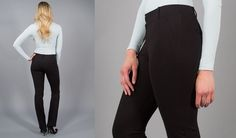 Straight-Leg | Black Dress Pant Yoga Pants from Betabrand $78