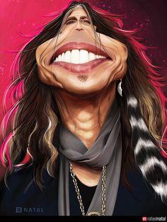 Steven Tyler by Rafael Natal Ilustração, via Flickr