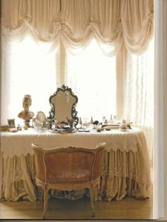 romantic dressing table