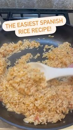Recipe For Homemade Spanish Rice, Homemade Mexican Rice, Easy Spanish Recipes, Mexican Rice Recipes, Tapas Recipes, Easy Mexican Rice, Fiesta Rice Recipe, Cooking Recipes, Spanish Food