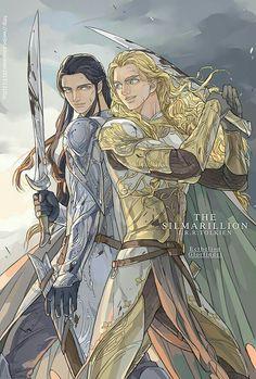 Glorfindel and Ecthelion. By Choistar