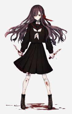 que yandere . Yandere Girl, Yandere Anime, Anime Oc, Chica Anime Manga, Anime Angel, Dark Anime, Manga Girl, Cool Anime Girl, Beautiful Anime Girl