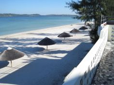 A Praia do Bilene, recentemente. Fica situada a cerca de 200 quilómetros a Norte de Maputo.