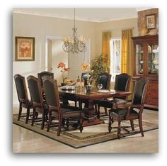 Winners Only Ashford Dining Collection Bi-cast Leather seats and backs