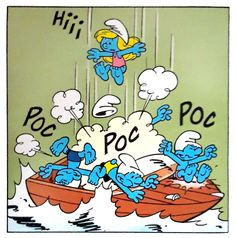 """From the comic """"Nautical smurfs"""" - Schtroumpfs nautiques - 04"""