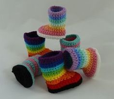 Kaleidoscope - Striped Boots for American Girl Dolls | YouCanMakeThis.com