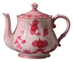 Antico Doccia - Oriente Italiano PINK Teapot W/Cover from Richard Ginori 1735 in Yardley, PA from Pink Daisy