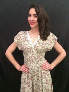 SERIOUSLY adorable RaYon 90's VINTAGE floral dress