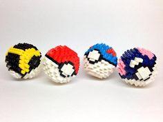 Kentaro Negoro - Pokeball #pokemon #nanoblock Lego Pokemon, Easter Drawings, 3d Perler Bead, Lego For Kids, Lego Group, Build Something, Legos, Minecraft, Projects To Try
