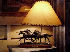 Three Horses Lamp, 719.657.3111, www.coloradocowgirls.net Horse Lamp, Rustic Lamps, Table Lamp, Horses, Unique, Home Decor, Lamp Table, Decoration Home, Room Decor