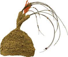 Africa | Cameroon Bamileke Headdress. Grasslands | Fiber, elephant hair, beads.  Crocheted