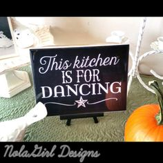 Kitchen Decoration ,Dancing in the kitchen sign, black & white, Home Decor, country, kitchen art, Decorative sign, Gift, Rustic Kitchen gift