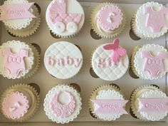 Baby Shower Cupcakes For Girls, Baby Shower Cupcake Toppers, Baby Shower Cookies, Pregnant Belly Cakes, Cake Pop Tutorial, Welcome Baby Girls, Baby Shower Flowers, Elephant Baby Showers, Pink Cupcakes