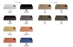 Colori e finiture nuovi lavabi bordo fino Scalino Artceram
