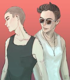 Ronan and Kavinsky by aikochew (http://aikochew.tumblr.com/)