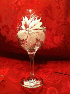 Set of 4 Hand painted wine glass. by LongsBeachBoutique on Etsy, $26.50