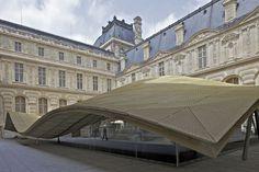 La nouvelle structure du Musée Louvre dédiée aux Arts de l'Islam. à Paris 1er arr.