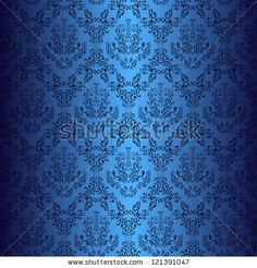 Dark blue wallpaper in style retro. Vector version in my portfolio - ID: 116851075. by N_A_T_A_L_I, via ShutterStock