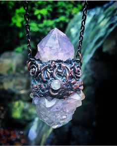 A personal favorite from my Etsy shop https://www.etsy.com/listing/459054832/dragon-and-amethyst-crystal-spirit