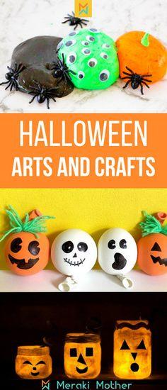 Easy Halloween art a