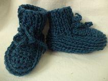 Babyschuhe gestrickte 74/80 Schurwolle Baby Schuhe