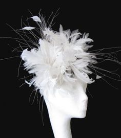 white - fascinated with fascinators
