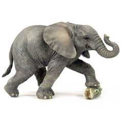 Whimsical with a sophisticated elegance, this #Elephant Baby Kicking Rock Sculpture makes a heartwarming addition to any room in your home.