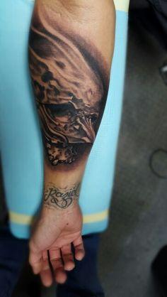 Subreal skull tattoo
