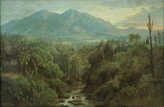 Lukisan pemandangan karya Abdullah Suriosubroto