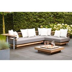 Loungeset Life Outdoor Living London teak - Tuinmeubels-online.nl