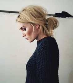 Hair Inspiration: Low Messy Bun #beauty #contour #cheeks #makeup #blush #updo