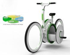 Foldable electric bike with specially designed shelf to store your belongings