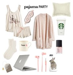 """""""Pajama Party"""" by rabbitloverforever ❤ liked on Polyvore featuring Disney, Johnstons of Elgin, LaMont, Merkury Innovations, Mary Green, Speck, Big Tomato Company and NARS Cosmetics"""