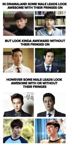 :D *Thinking of he opposite, Heir's second male lead when he put his fringe down *_*