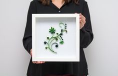 Minimalist Green Floral Wall Art Quilling Modern Paper Art Elegant Handmade Home Decoration Wall Hanging Unique 3d Paper Art Etsy by PaperParadisePL