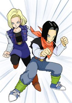 Android 18 and 17