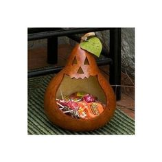 Really cool Pumpkin Gourd Candy Dish