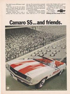 1969 Chevy Camaro - SS and friends - vintage ad #vintagecars