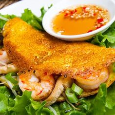 Image for Bánh Xèo (Savoury Vietnamese Crepes Stuffed with Shrimp and Mushrooms)