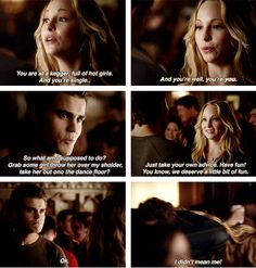 I think Caroline might be Stefan's Lexi. X)  This is adorable. X) Unless there's more to it, they're like brother and sister. :)