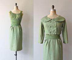 Greenleaf dress vintage 1950s dress green wool 50s by DearGolden