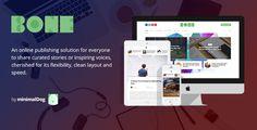 Bone - Minimalist and Modern Responsive WordPress Blog Theme • Download theme ➝…