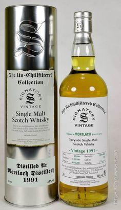 Signatory Vintage Mortlach Whisky Vintage 1997 46% 0,7l non chill filtered Region: Speyside 18 y.o. Distilled: 02.06.1997 Bottled: 11.11.2015 Matured in: Hogsheads Cask No.: 7182