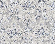 scandinavian vintage vliestapete landhaus tapete vlies blau wei grau tapetenideen pinterest. Black Bedroom Furniture Sets. Home Design Ideas