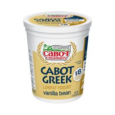 ... from 2% low-fat milk, Cabots vanilla bean low-fat Greek yogurt